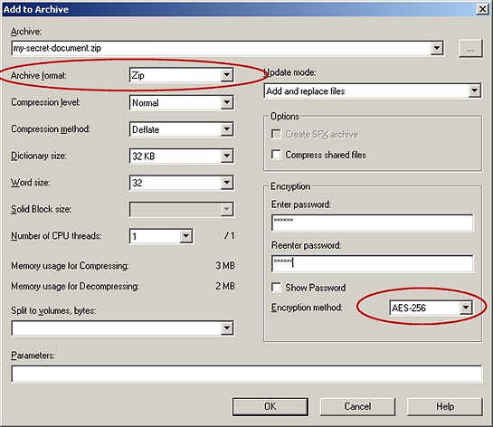 How to Encrypt Documents Using 7zip