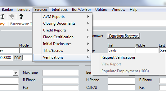How To Order Tax Return Verifications In Calyx